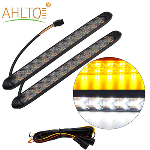 2X Auto LED DRL Daytime Running Light Switchback Car Styling Dynamic Sequential Brake White Yellow Turn Signal Warning Fog Lamp