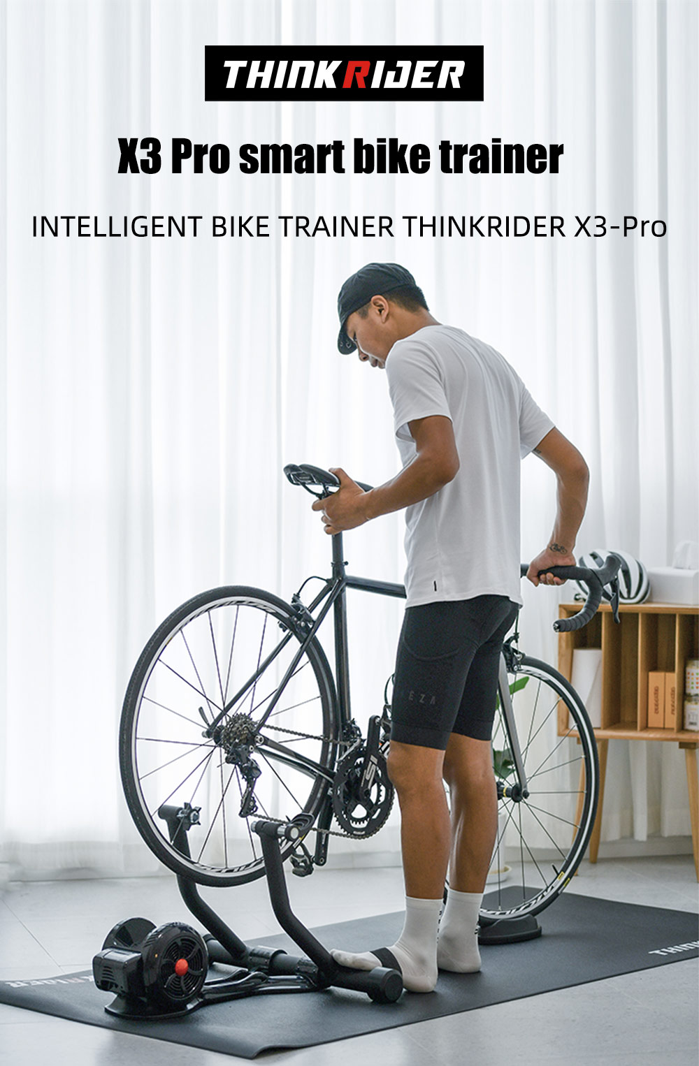 New Thinkrider X3pro Smart Bike Trainer Mtb Road Bicycle Cycling Built In Power Meter Bike Trainer For Zwift Trainerroad Perfpro Aliexpress