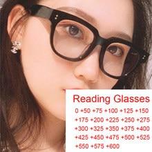 Marco de gafas de ordenador transparente para mujer, gafas de lectura cuadradas con remache, gafas ópticas de bloqueo, de 0 a + 6,0