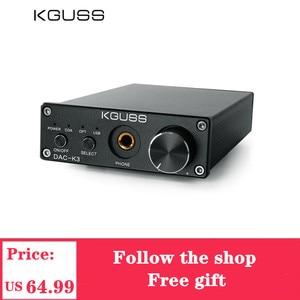 KGUSS DAC-K3 TPA6120 2.0 MINI HIFI USB DAC Decoded Audio Headphone Amplifier 24BIT 192KHz OPA2134 AMP DC12V DAC