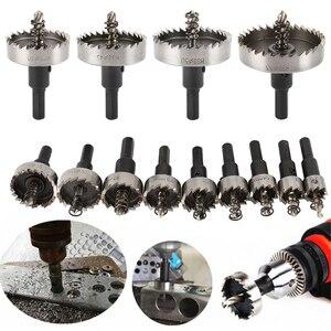 Image 1 - 13 adet HSS matkap ucu seti yüksek hız çeliği karbür ucu delik testere dişi kesici Metal delme el ahşap kesme marangozluk kron