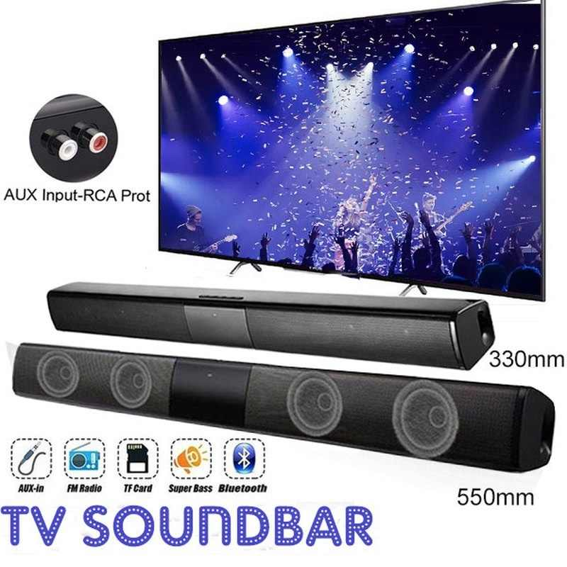 20W TV Altoparlante Senza Fili di Bluetooth Altoparlante Portatile Colonna Bass Soundbar Subwoofer con Radio FM per Computer TV Sistema Audio box