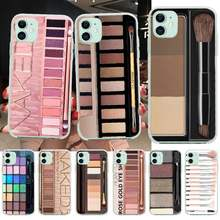Penghuwan Naked Palette Mode Glam Make-Up Palet Bling Phone Case Voor Iphone 11 Pro Xs Max 8 7 6 6S Plus X 5S Se Xr Cover(China)