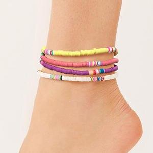 Barefoot Sandals Anklets Bracelet Jewelry Boho Adjustable Bohemian Clay Women Halhal