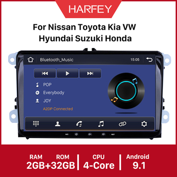 Harfey Car GPS Radio 9 2din Android 10.0 API 29 car multimedia Player for VW Volkswagen SEAT LEON CUPRA Skoda Passat b5 b6 CC image