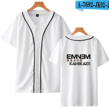 2019 Hot Eminem Kamikaze Baseball T-shirt kobiety/mężczyźni letnia koszulka modne płaszcze koszulka baseballowa modne ciuchy Plub rozmiar 4XL