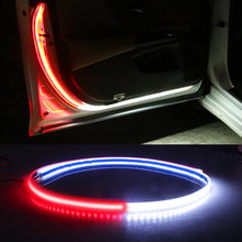 Carro LEVOU Luzes de Aviso de Abertura de Porta decorativa Tiras Bem-vindo Decoração Da Lâmpada Anti-extremidade Traseira da Colisão de Segurança Do Carro Universal Luz 12V