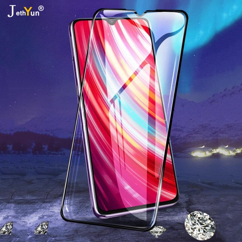 2 In 1 Tempered Glass 9D Full Cover For Xiaomi Redmi 7 8 7A 8A Note 7 8 K20 Pro 8T K30 5G Protective Screen Protector Film