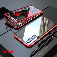 Metal Magnetic Case For Huawei P30 Pro Lite P20 Pro Phone Transparent Glass Back Cover Magnet Huawei P30Lite Case P 20 Pro