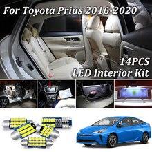Kit de lumières intérieures de voiture Canbus blanc | 15 pièces, led pour Toyota Prius 50 ZVW50 ZVW51 ZVW55 2016 2017 2018 2019 2020