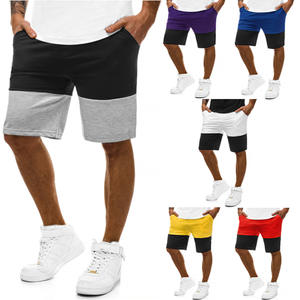 Summer men's casual sports slim body matching fitness jogging five minutes shorts