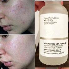 Primer niacinamida 10% + zinco 1% 30ml essência mineral alta regula sebo minimiza os poros soros comuns faciais