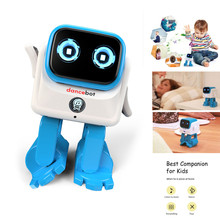 Dancebot AI Smart Robot Bluetooth RC Dancing Kids Toys Story Speaker 360 Degree Joint Children's Companion Intelligent Algorithm