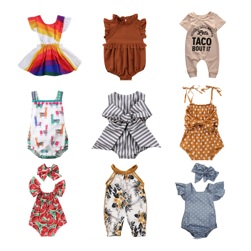 13 Styles Romper For Baby Girls Clothes Cute Print Jumpsuit Clothes Ifant Toddler Newborn Outfits Hot Innrech Market.com