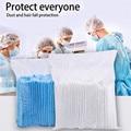 65 шт. одноразовая шапка, одноразовая защита от падения, Нетканая шапка с двойным ребром, защитный чехол для больницы # Y2