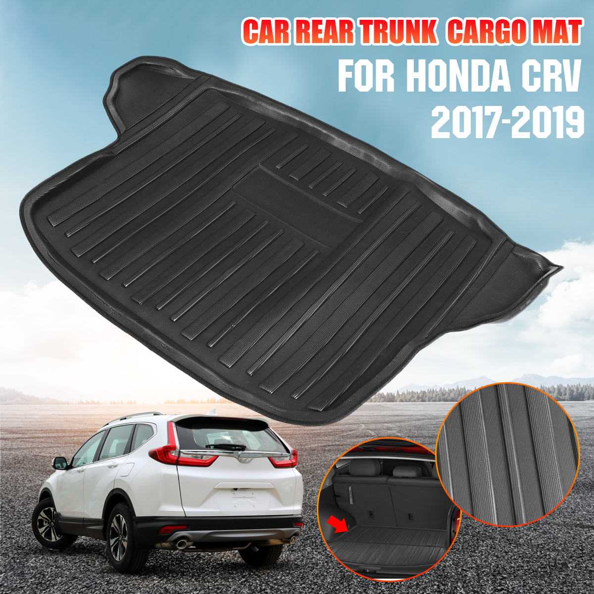 Car Cargo Liner Boot Tray Rear Trunk Cover Matt Mat Floor Carpet Kick Pad For Honda For CRV CR-V 2017 2018 2019