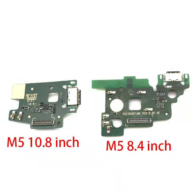 Dock Connector Micro USB Charger Charging Port Flex Cable Microphone Board For Huawei MediaPad M5 8.4 Inch & 10.8 Inch
