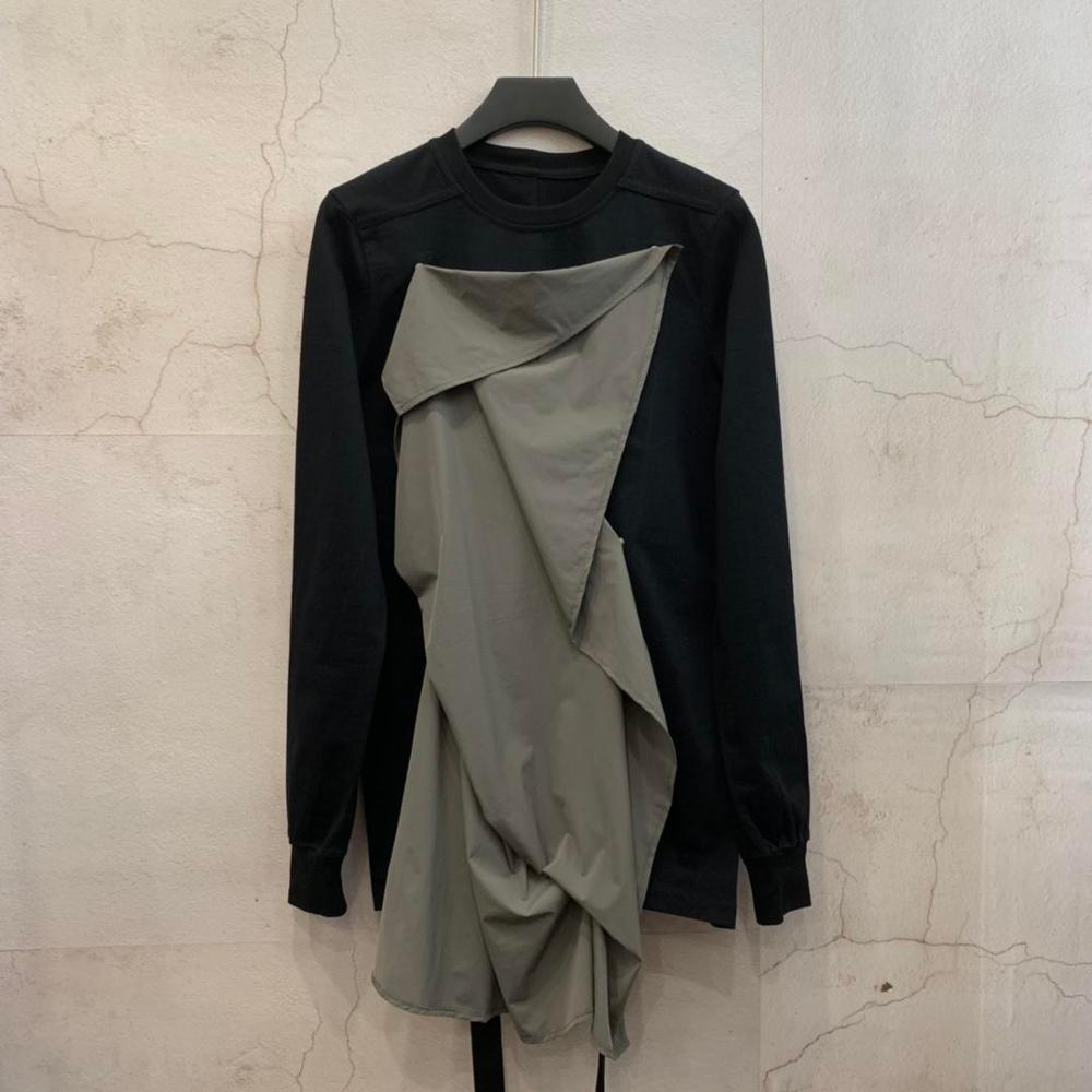 19ss Owen seak Men Cotton Hoodies Sweatshirts Gothic Style Men's Clothing Autume Women Solid Black Hoodies Shirts Size XL