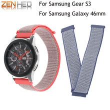 Sports Nylon Watch Bands 22mm Strap For Samsung Gear S3 Frontier Classic Smart Wristband Galaxy watch 46mm