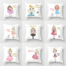 Pillow case 45*45 New Princess Series Printed Polyester Case Square