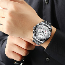 BOYZHE Luxury Men Watches Top Brand Automatic Mechanical Watch Mens Fashion Casual Stainless Steel Waterproof Clock Reloj Hombre