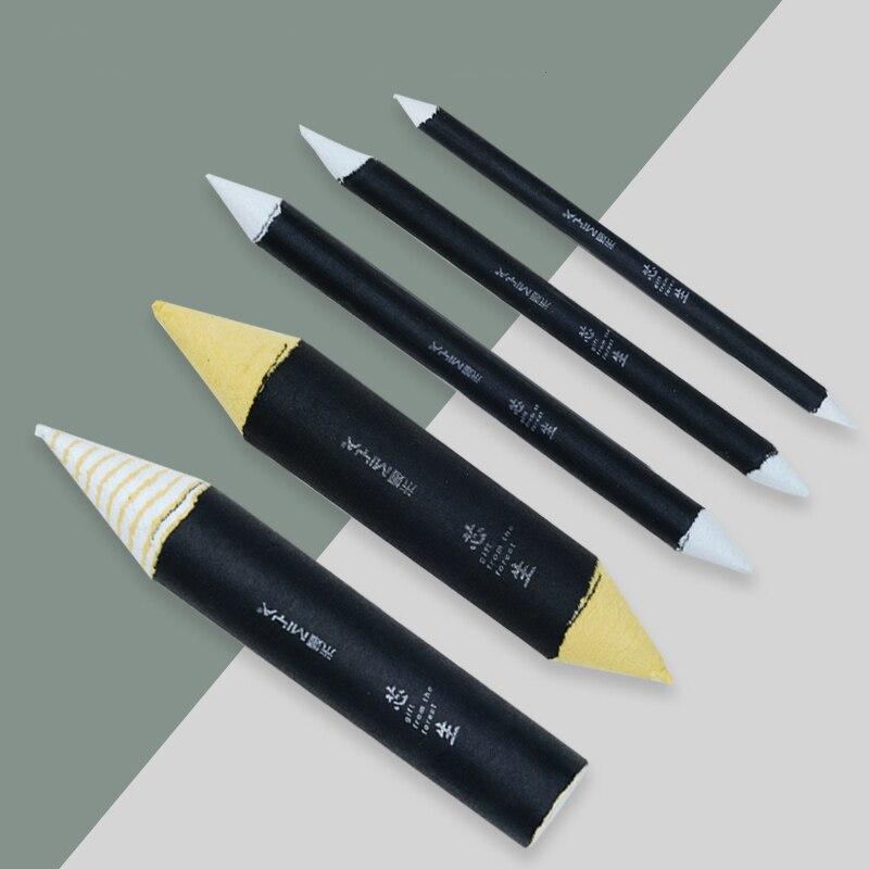 MYZCB Highlight Blending Paper Stump Set Sketch Professional Sketch Art Tools Supplies 5 Sizes Paper Stick