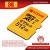 코닥 마이크로 SD 카드 512 기가 바이트 256 기가 바이트 128 기가 바이트 64 기가 바이트 32 기가 바이트 class10 플래시 메모리 카드 U3 4K 고속 카타오 드 memoria