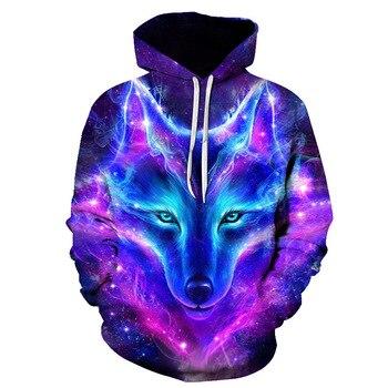Personality Hoodie Wolf 3D Mens Boys Hoodies Sweatshirt Brand Designer mens Clothes Autumn Winter High Quality animal streetwear 1