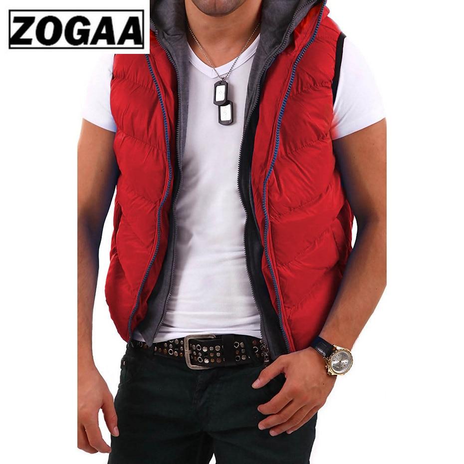ZOGAA Men Parkas Vest Warm Casual Cotton Coats Mens Sleeveless Jacket Waistcoat Fashion Male New Autumn Winter