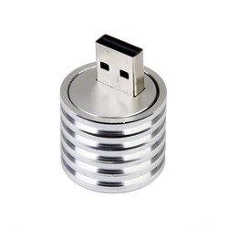 Aluminium 3W USB LED Lampe Sockel Scheinwerfer Taschenlampe Weiß Licht