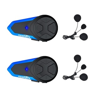 Image 1 - Fodsports 2 pçs BT S3 capacete da motocicleta bluetooth interfone moto capacete fone de ouvido à prova dwaterproof água bt intercomunicador fm