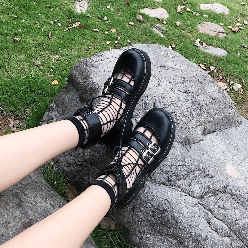 Lolita Leather Waterproof Shoes  1