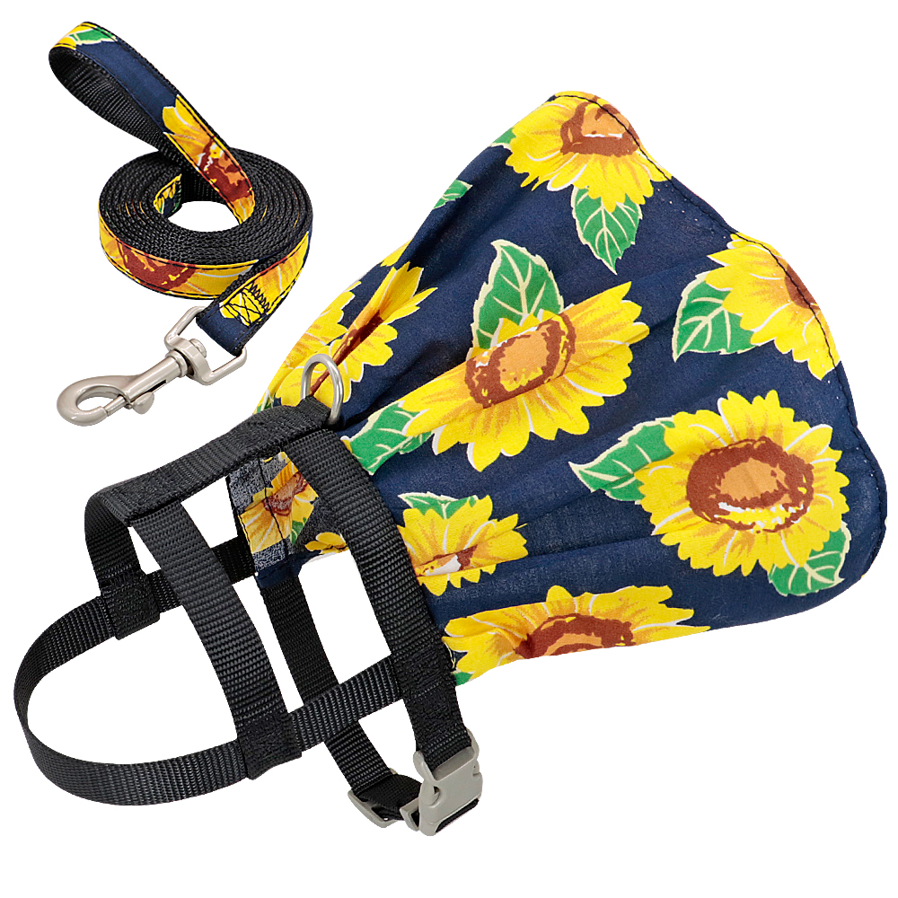 Small Puppy Dog Cat Clothes Harness Leash Adjustable Floral Printed Pet Harness Vest Dress For Small Medium Dogs Cats Chihuahua 10