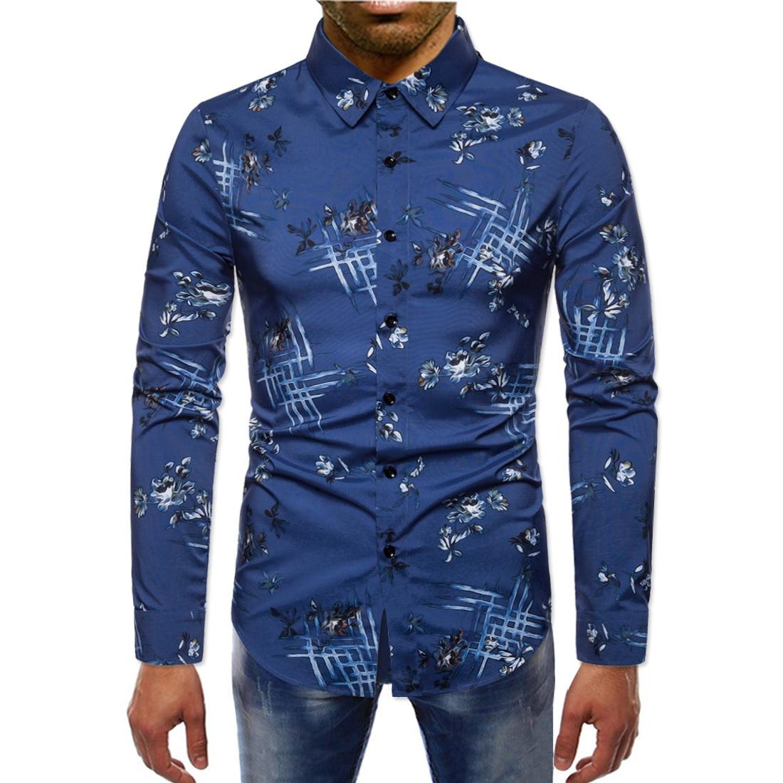 2019 New Style Autumn Casual Shirt MEN'S Cardigan Shirt Youth Casual Fold-down Collar Shirt Jj-ys062