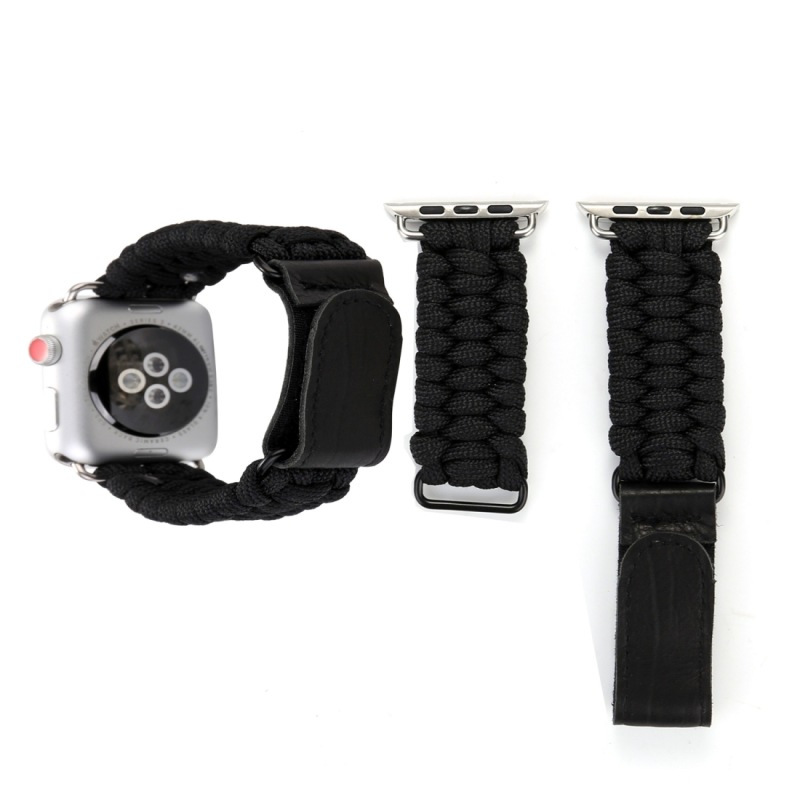 Suitable For APPLE Watch 38 Mm Three Generations Second Generation Universal Velcro Genuine Leather Umbrella Rope