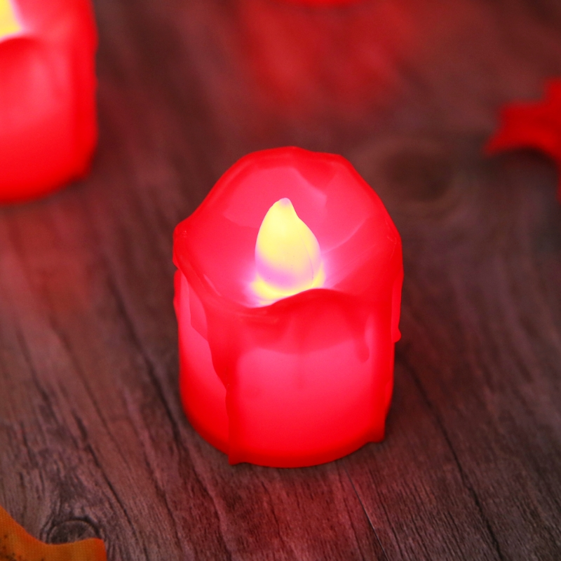 Plastic Battery Powered LED Candle Light Flameless Tealight Festival Wedding Decor DXAF