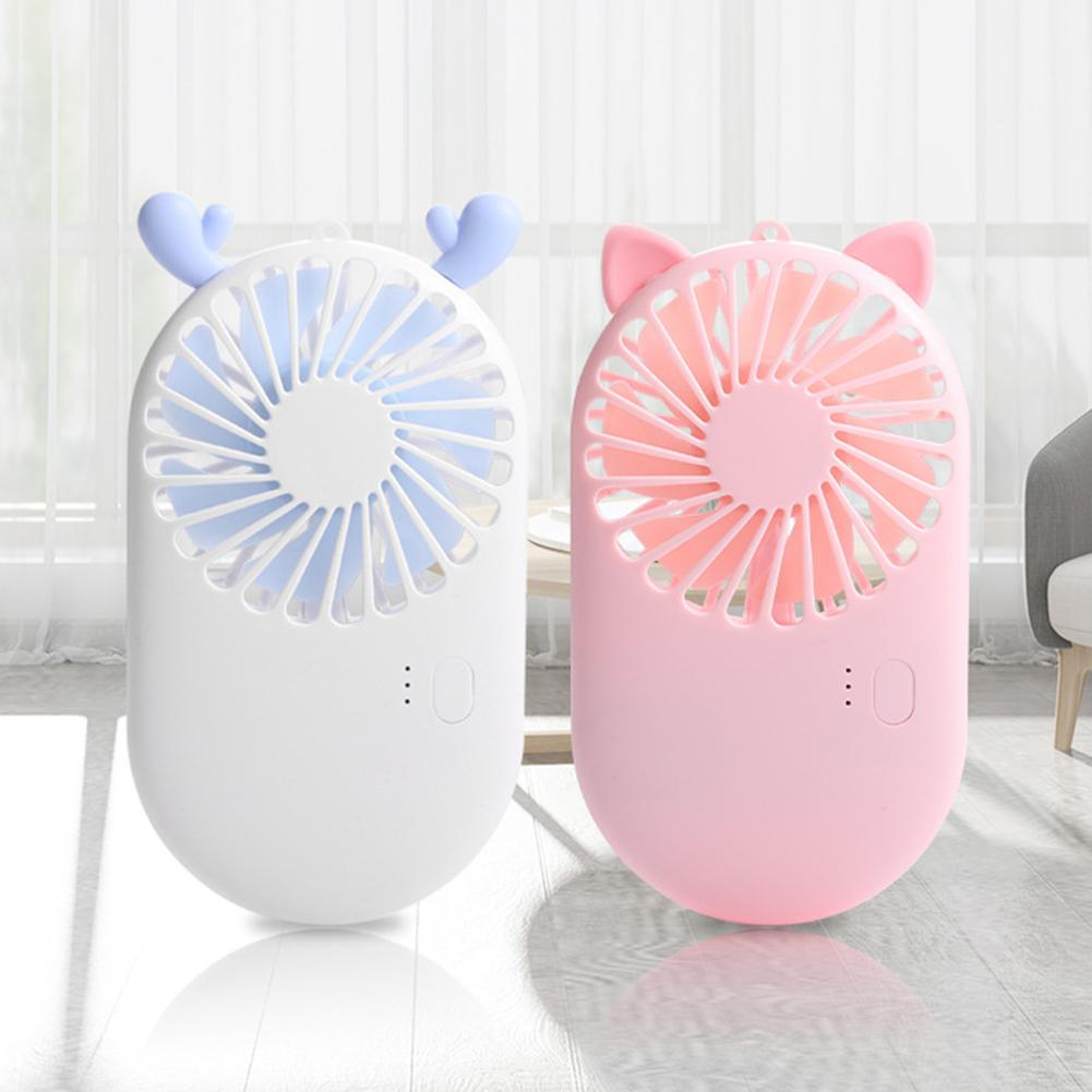 Portable Mini Handheld USB Rechargeable Mini Fan Mute Cooling Fan Office Travel Cooler Home Cooling Fan HVAC Systems