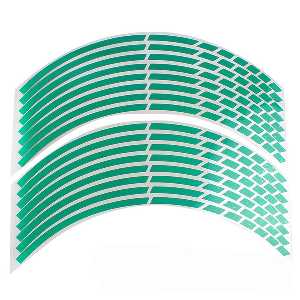 "Image 4 - 17""18"" 16pcs Motorcycle Car Wheel Tire Stickers Reflective Rim Tape Motorbike Auto Reflective Sticker"