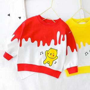 Image 4 - Bebê da criança roupas da menina do menino dos desenhos animados urso camiseta + calça 2 pçs define meninos primavera outono outwear roupas de moda 1 2 3 4 ano