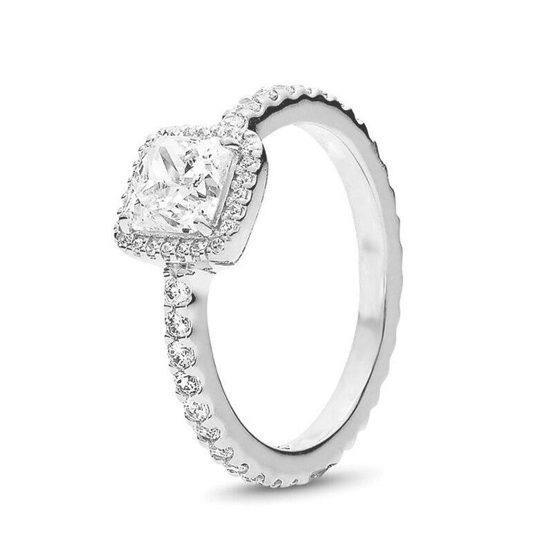 Кольцо на палец в форме сердечко серебряного цвета для женщин, европейская оригинальная Корона, изящные кольца на палец, свадебные украшения, 50 стилей, Прямая поставка - Цвет основного камня: Rings 035