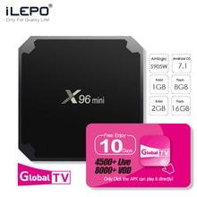 ILEPO X96 mini Android TV BOX 7.1 Smart Box 2GB 16GB Amlogic S905W Quad Core 2.4GHz WiFi Set top box IPTV m3u