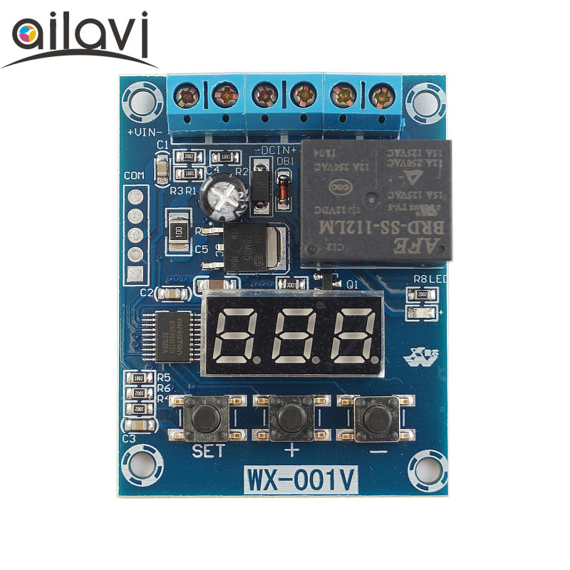 Voltage upper and lower limit detection control module 10A battery charge and discharge monitoring DC5V12V24V power supply