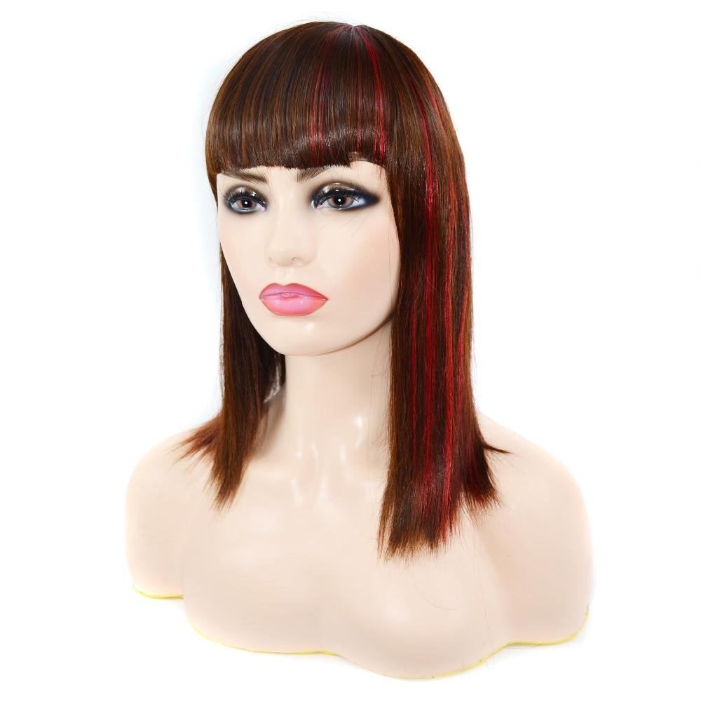 reta peruca gradiente cor do cabelo em linha reta peruca