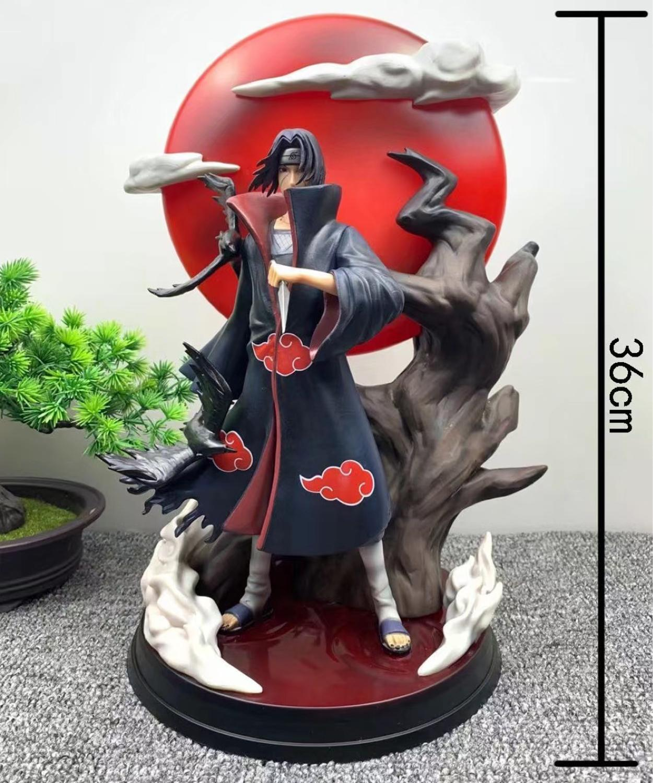 NEW Naruto Akatsuki Organization Itachi Uchiha GK Resin Statue With LED Light PVC Action Figure Collection Model Toy Gift