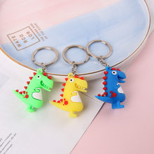 Cartoon PVC Animal Dinosaur Key chain is Suitable For Men and Women's Bags Decoration Mobile Phone Keychains Children's Toys Key(China)