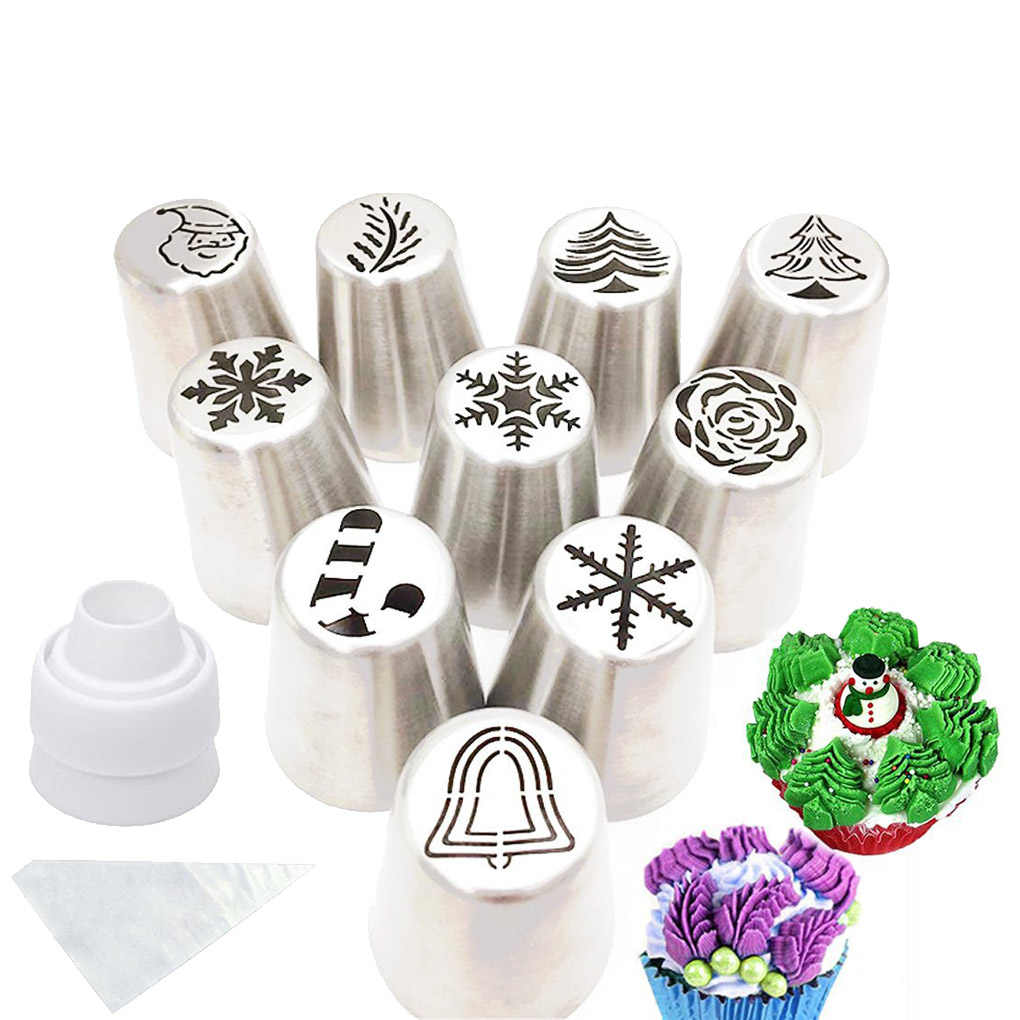 41PCS/17PCS Set Russian Piping Tips Dessert Pastry Cream Icing Piping Nozzles Baking Decoration Tool Kit Cake Tips