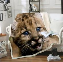 Плед одеяло sonspee с леопардовым и Ягуаром диванное покрывало