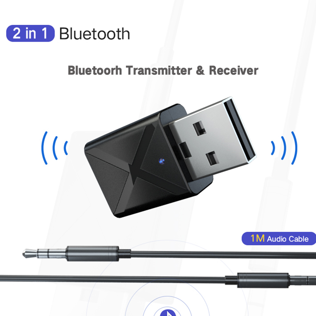 Bluetooth 5.0 Audio Receiver Transmitter Mini Stereo Bluetooth AUX RCA USB 3.5mm Jack For TV PC Car Kit Wireless Adapter