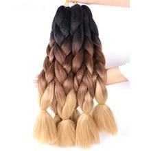 24 Polegada ombre multiple tone colorido cabelo sintético para mulheres extensões de cabelo trança jumbo kanekalon trança cabelo