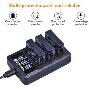 Image 2 - 4Pcs 1680mAh AHDBT 401 Battery for Gopro Hero 4 Battery AHDBT401 AHDBT 401 + LED 3 Port USB Charger For GoPro Hero4 HERO4 Camera